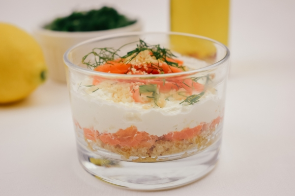 Mini cheesecake salata al salmone